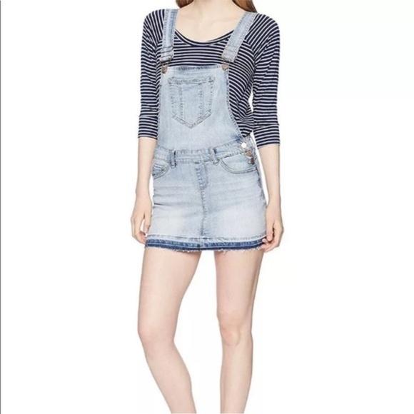 0546a6a7926 Dollhouse overalls jumper mini skirt denim jeans